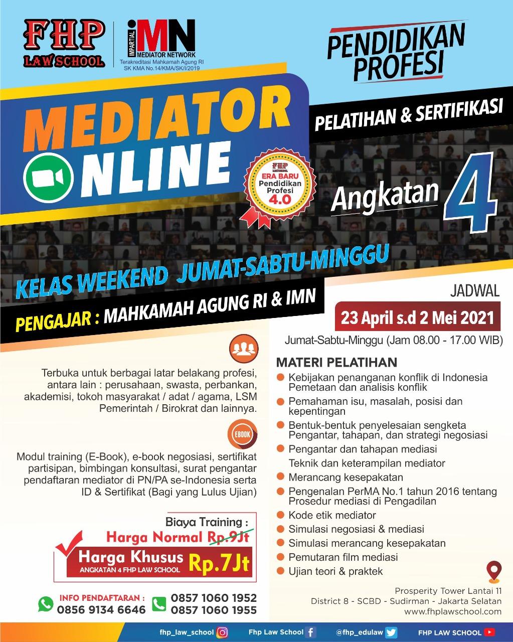 FHP-IMN-Pelatihan-Mediator-April-2021-Kelas-Weekend